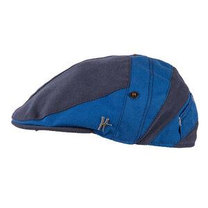 "Flatcap ""Handlanger"" - dunkelblau-hellblau - ReHats Berlin"