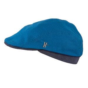 "Flatcap ""Geselle"" aus Arbeitskleidung - hellblau-dunkelblau - ReHats Berlin"