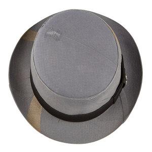 """Bowler-Hut """"Inspector"""" aus Arbeitskleidung - grau - ReHats Berlin"""