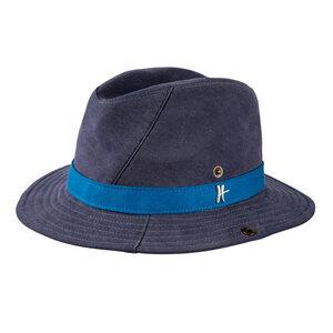 "Cowboyhut ""Mrs. Cowboy"" aus Arbeitskleidung - dunkelblau-hellblau - ReHats Berlin"