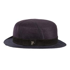 """Bowler-Hut """"Inspector"""" aus Arbeitskleidung - dunkelblau - ReHats Berlin"""