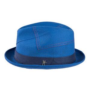 "Player-Hut ""Bürgermeister"" aus Arbeitskleidung - hellblau-dunkelblau - ReHats Berlin"