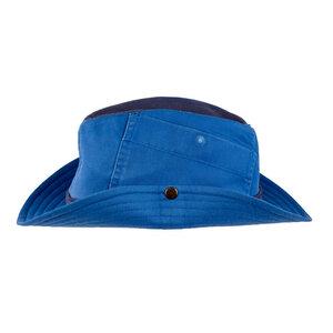 "Cowboyhut ""Mrs. Cowboy"" aus Arbeitskleidung - hellblau-dunkelblau - ReHats Berlin"