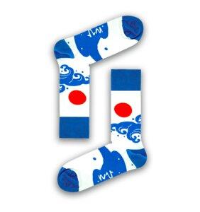 Socken Bio GOTS |Bunte Socken |Herren Damen Socken | Waves Japan Socks - Natural Vibes