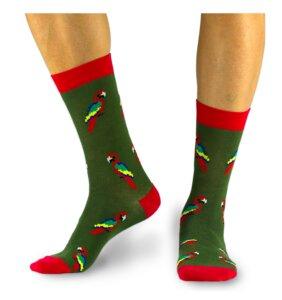 Socken Bio GOTS |Bunte Socken |Herren Damen| Parrot Vogel Socks - Natural Vibes