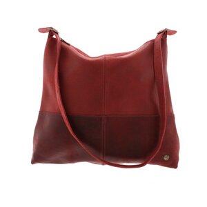 Hermosa – eleganter zweifarbiger Shopper aus Leder - rot - MoreThanHip