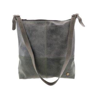 Amena - stilvolle 2-farbige Damenhandtasche aus Semi-Ökö-Leder - grün - MoreThanHip