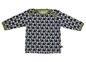 loud + proud Langarmshirt Mädchen/Junge beige mit blauen Elefanten Gr.86/92 - loud + proud