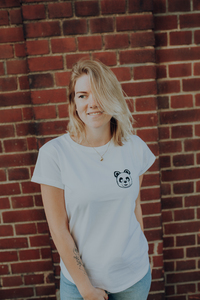Little Panda Organic Women Shirt _ white / ILK02 - ilovemixtapes