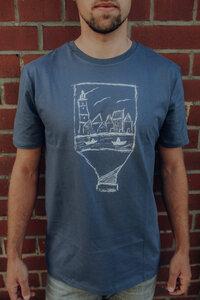 Flaschenpost Organic Men Shirt _ charcoal grey / ILK01 - ilovemixtapes