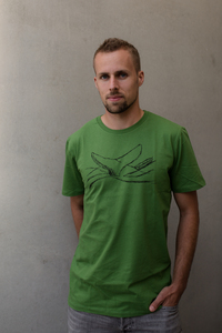 by the sea, whale Organic Men Shirt _ green / ILK01 - ilovemixtapes