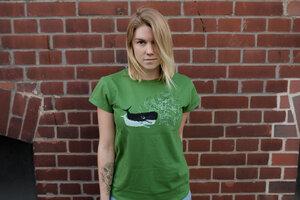 whale vs. ships 3.0 Organic Women Shirt _ green / ILK02 - ilovemixtapes