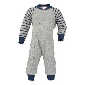 Baby-Schlafanzug ohne Fuß Schurwolle kbT - Engel natur
