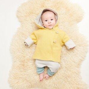 """Baby-Wendejäckchen """"Jacquard/Ripp Gletscher, 100% Bio-Baumwolle - Cheeky Apple"""