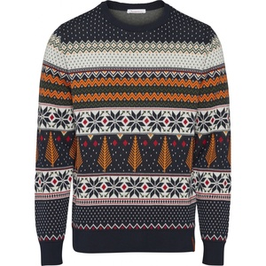 Strickpullover - O-neck x-mas knit - GOTS/Vegan - Total Eclipse - KnowledgeCotton Apparel