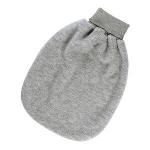 Baby Fleece-Strampelsack 47 cm Schurwolle kbT - Engel natur