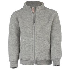 Kleinkind Fleece-Jacke mit Reißverschluss Schurwolle kbT - Engel natur