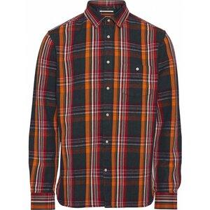 Hemdjacke- Long sleeve heavy twill checked shirt - GOTS/Vegan - Total Eclipse - KnowledgeCotton Apparel