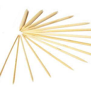 Stricknadel aus 100% Bambus | ca. 15m lang / 75x im Set - 2,0 bis 10mm  - Bambuswald