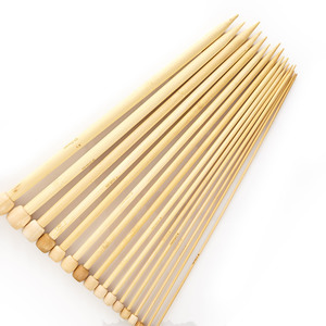 Stricknadel / Häkelnadel aus 100% Bambus | ca. 25cm lang / 36x im Set - Bambuswald
