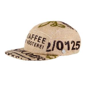 """Schirmmütze """"Café Ristretto"""" aus Kaffeesack-San Brasil - ReHats Berlin"""