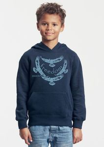 Bio-Kinder-Kapuzen-Sweatshirt Freedom - Peaces.bio - Neutral® - handbedruckt