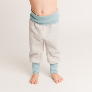 "Baby-Fleecehose ""Fleece Grau"" aus 100% Bio-Baumwolle - Cheeky Apple"