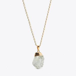 Green Amethyst - vergoldete Prasiolith Halskette - Crystal and Sage