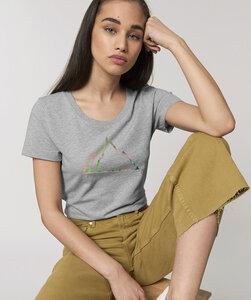 Basic T-Shirt mit Motiv / NEON MOUNTAIN - Kultgut