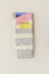 Socken mit Streifen aus Schurwolle - LANIUS