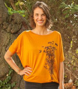 Pflanzen Kolibri - Fair gehandeltes Kurzarm Flowshirt aus Modal - päfjes