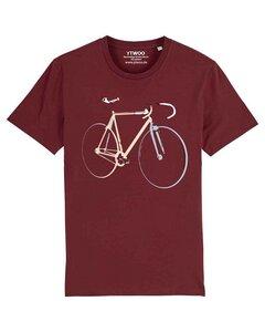 Bio T-Shirt mit Fahrrad, Rennrad, Bike, Rad als Motiv.  - YTWOO