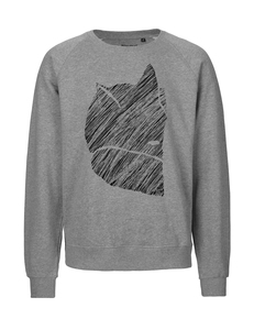 "Fair gehandelter Unisex Bio Sweater ""Fuchs 2.0"" grey melange - ilovemixtapes"