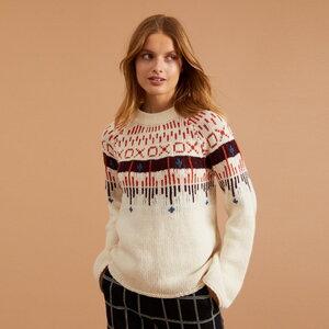 Norweger-Pullover aus Schurwolle GOTS - LANIUS