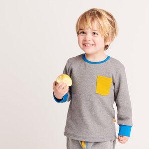 Buben Langarm T-Shirt mit Brusttasche aus 100% Bio-Baumwolle  - Cheeky Apple