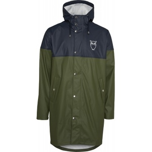 Regen Jacke - Long rain jacket with chest print /Vegan - KnowledgeCotton Apparel