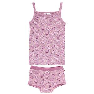 Mädchen Untwäsche Set - rosé bedruckt - People Wear Organic