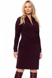 AUREL Schalkragen Kleid in Wickeloptik aus Modal-French Terry - Ingoria