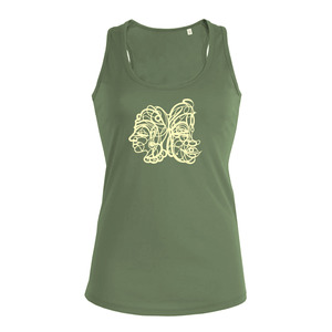Buddha Swirl - Siebdruck Tank-Top W - Sacred Designs