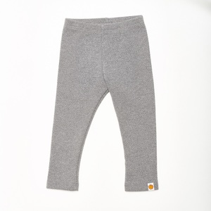"Leggings ""Interlock Doubleface Grau"" aus 100% Bio-Baumwolle - Cheeky Apple"