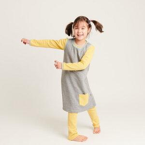 """Ärmelloses Kleid mit Tasche """"Sweat Grau"""" aus 100% Bio-Baumwolle - Cheeky Apple"""