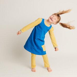 """Ärmelloses Kleid mit Tasche """"Sweat Blau"""" 95% Bio-Baumwolle,5% Elasthan - Cheeky Apple"""