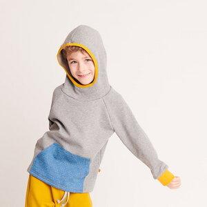 """Kapuzepulli mit Tasche """"Sweat Grau"""" aus 100% Bio-Baumwolle - Cheeky Apple"""