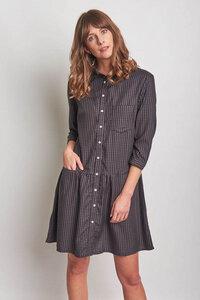 Ursula Check Shirt Dress - bibico