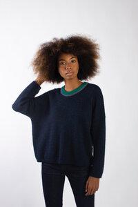 Baby Alpaka Strickpullover - 3 Colors Neck Sweater - Les Racines Du Ciel