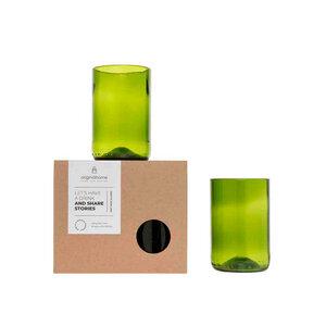 Trinkglas-Set M aus recycelten Weinflaschen - Fair Trade - Originalhome