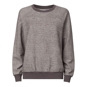 Damen Sweater Grau Meliert Bio Fair - ThokkThokk