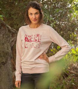 Fuchs & Hase - Unisex Fair Wear Sweater - Rosa - päfjes