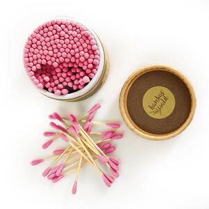 Bambus Wattestäbchen (pink) | 100% biologisch nachhaltig & ZERO WASTE! - Bambuswald