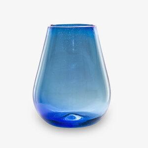Dekovase blau | Blumenvase | Glasvase | große Vase | Fensterdeko - Mitienda Shop